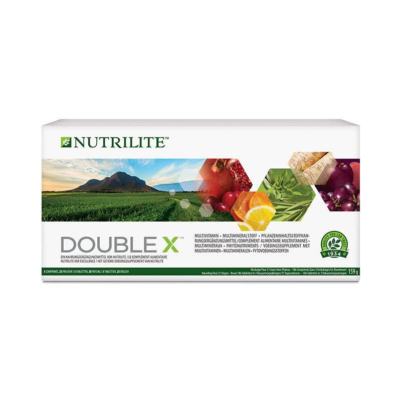Multivitamin Multimineral Phytonutrient Food Supplement DOUBLE X - 186 tablets - 31 days