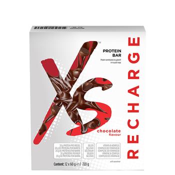 Barres protéinées XS goût chocolat - 12 x 60 g