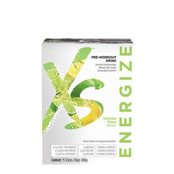 Pre-Workout Drink Citroen-limoensmaak XS - 30 sticks van 25 g